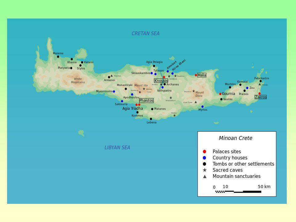 Mínojská kultura Její vznik i zánik zahaleny tajemstvím středomořský ostrov, pravděpodobně opakovaně postižen přírodními katastrofami (zemětřesení, př