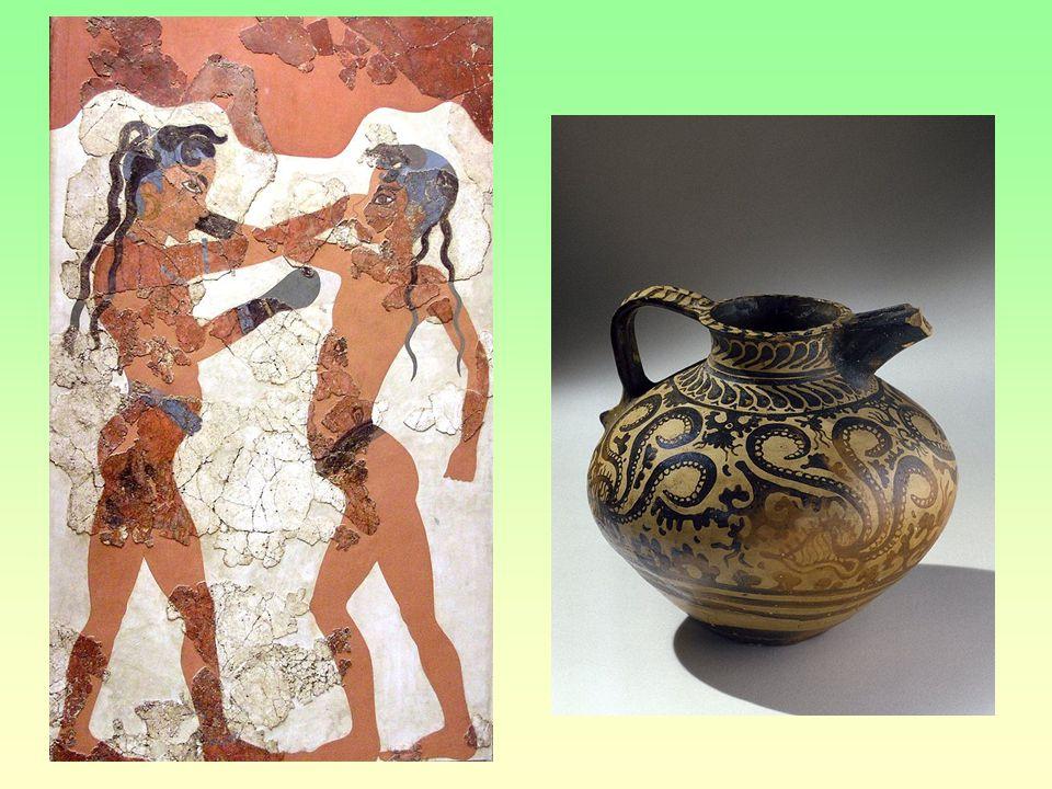 Námořní velmoc Rozvinutá řemesla Pozoruhodné umění Zahraniční obchodu Hadí bohyně