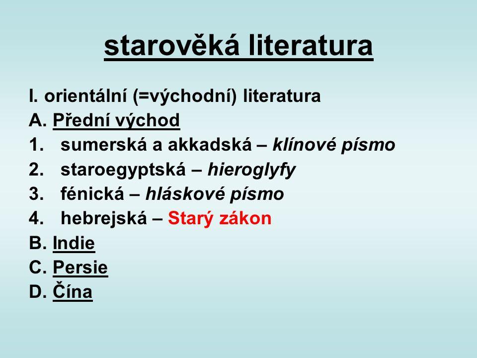 starověká literatura II.