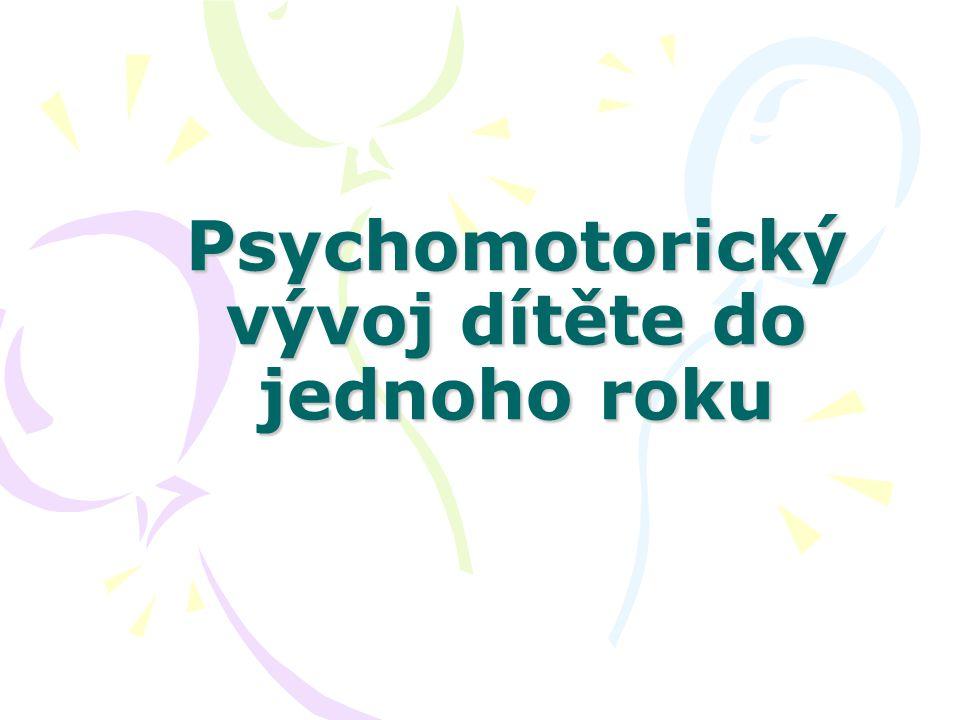 Psychomotorický vývoj dítěte do jednoho roku