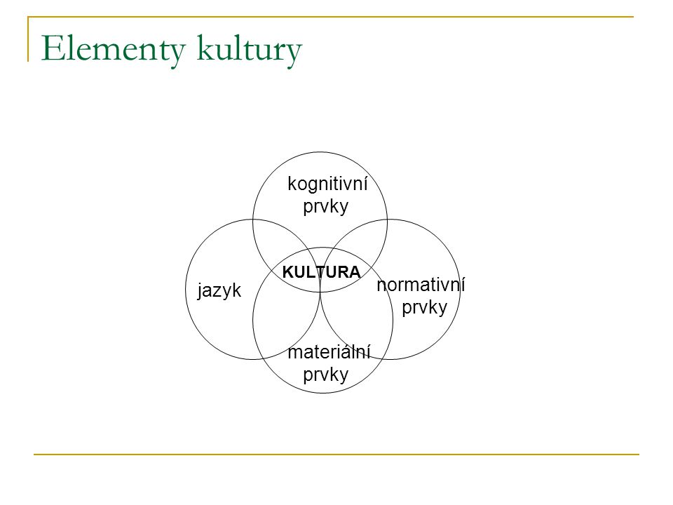 Podmínky vzniku kultury  Schopnost symbolické komunikace (užívat jazykových symbolů) a abstraktního myšlení.