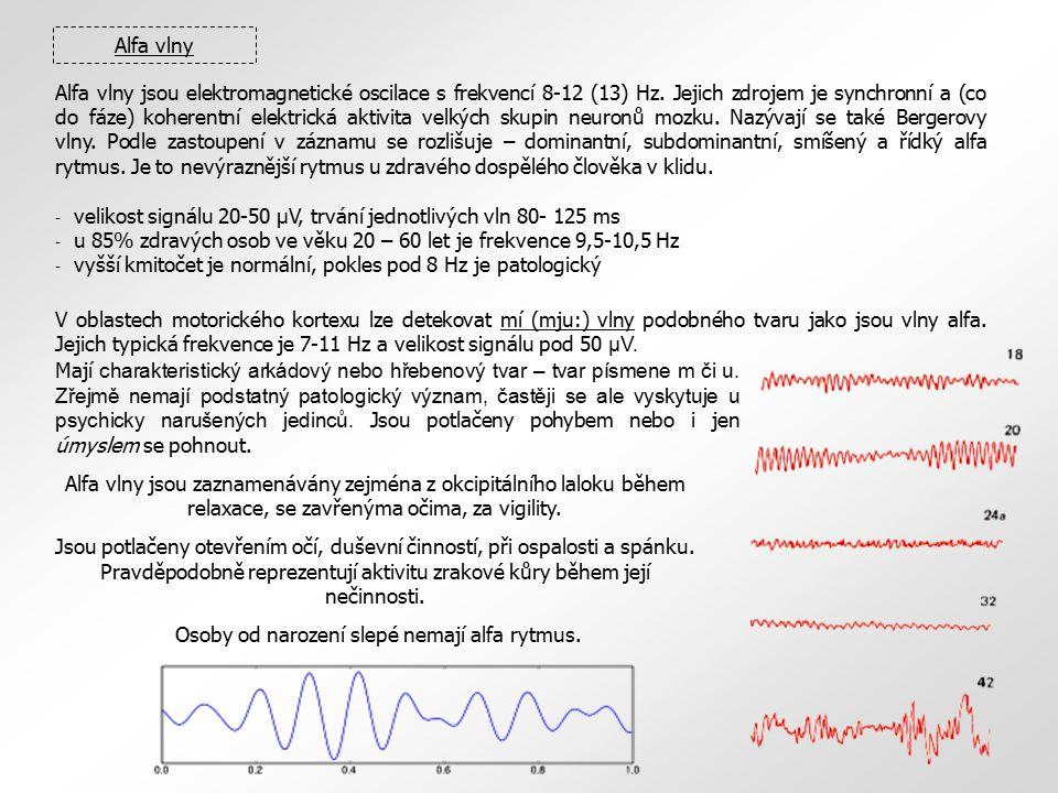 Alfa vlny jsou elektromagnetické oscilace s frekvencí 8-12 (13) Hz. Jejich zdrojem je synchronní a (co do fáze) koherentní elektrická aktivita velkých