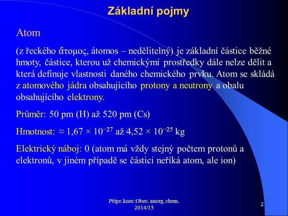 Přípr.kurs: Obec. anorg. chem. 2014/15 33 Toxicita, karcinogenita  Látka (C vs.
