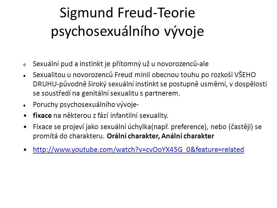 Psychosexuální vývoj 5 stadií, kterými projde jedinec.