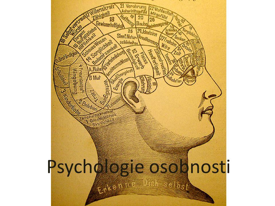 Psychologie osobnosti POZNÁVÁNÍ OSOBNOSTI Psychodiagnostické metody osobnosti - testy osobnosti Projektivní metody (testy nedokončených vět, grafické (kresba stromu), manipulační metody (Luscherův test výběru oblíbených a neoblíbených barev) Objektivní testy osobnosti (zachycují kvantifikovatelné vzorce chování, kdy vyšetřovaná osoba nemá možnost záměrně zkreslit vyšetření) – např.
