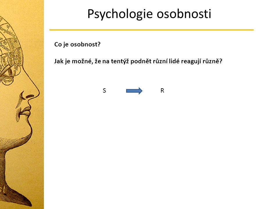 Psychologie osobnosti Co je osobnost.Jak je možné, že na tentýž podnět různí lidé reagují různě.