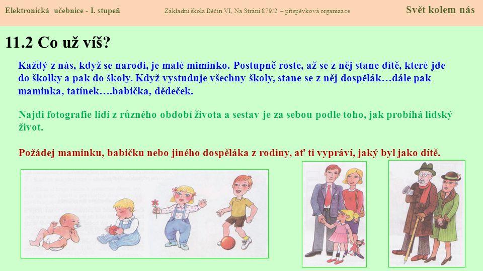 11.1 Lidé a čas – SOUČASNOST, MINULOST, PŘÍTOMNOST, ETAPY ČLOVĚKA Elektronická učebnice - I.