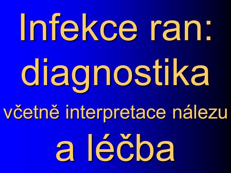 Infekce ran: diagnostika včetně interpretace nálezu a léčba