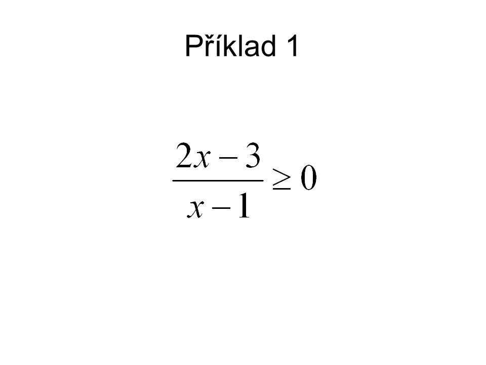Tuto nerovnici nelze vynásobit členem x - 1, protože nevíme, zda je tento člen kladný nebo záporný.