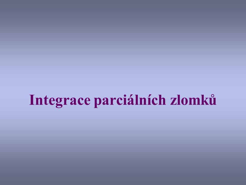 Integrace parciálních zlomků