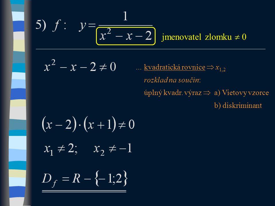 ...kvadratická rovnice  x 1,2 rozklad na součin: úplný kvadr.