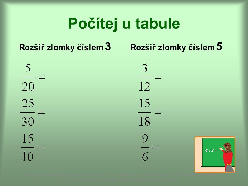 KRÁCENÍ ZLOMKŮ Ze 16 dětí ve třídě vybereme 6.Jak zapíšeme zlomkem vybranou část třídy.