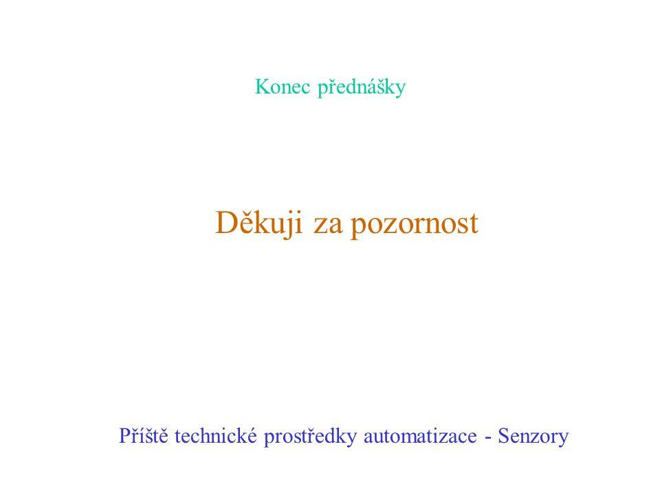 Konec přednášky Děkuji za pozornost Příště technické prostředky automatizace - Senzory