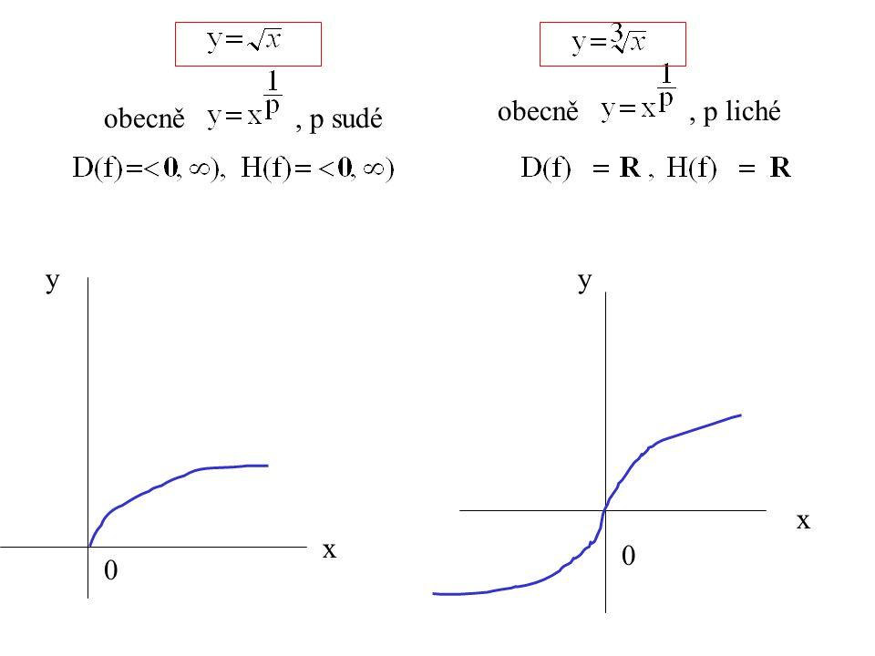 x y 0 x y 0 obecně, p liché obecně, p sudé