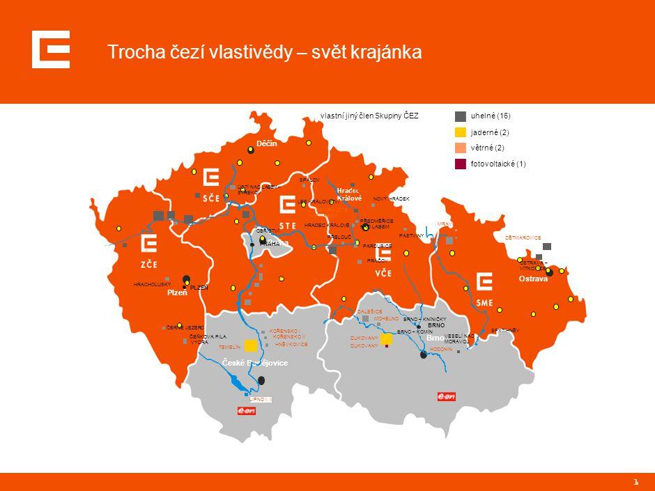 1 Trocha čezí vlastivědy – svět krajánka Děčín Plzeň České Budějovice Hradec Králové Brno Ostrava Praha