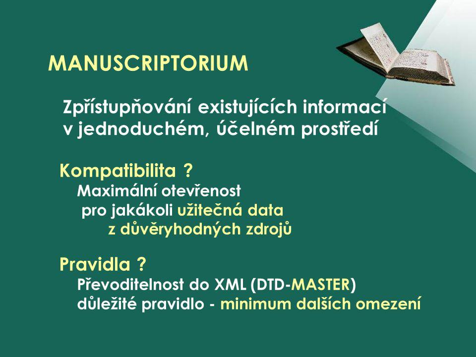 MANUSCRIPTORIUM Kompatibilita .