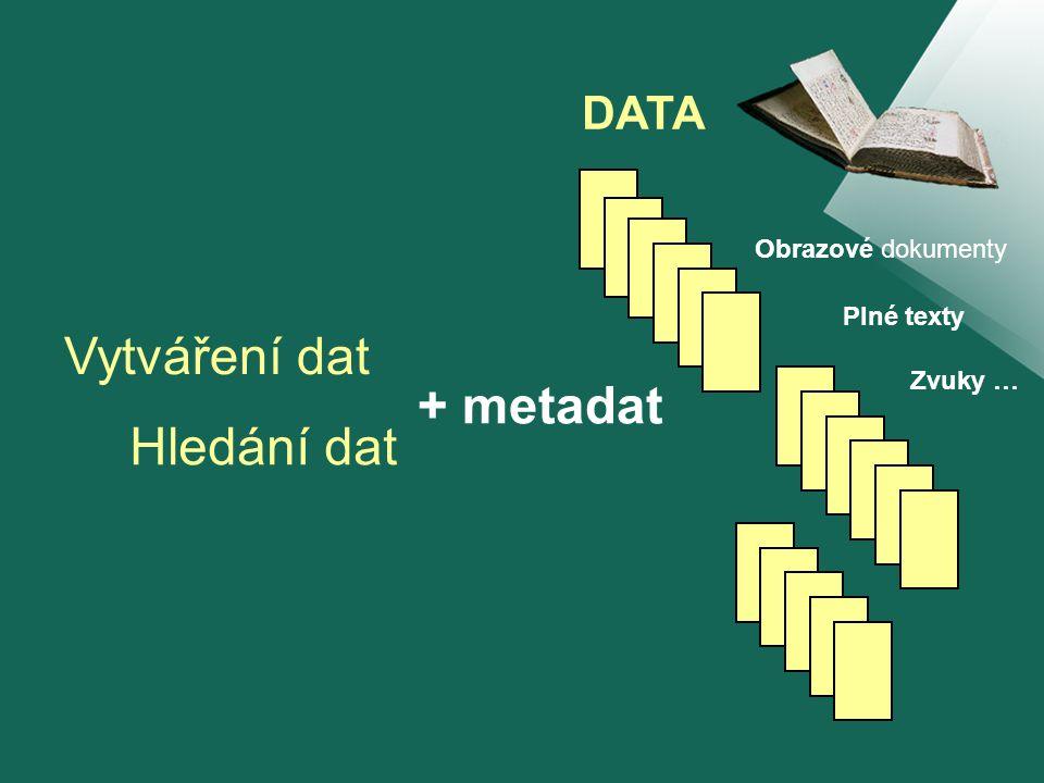 MANUSCRIPTORIUM relativně samostatné procesy Jsou testovány možnosti spolupráce a sdílení tvorba a správa metadat a dat zpřístupnění