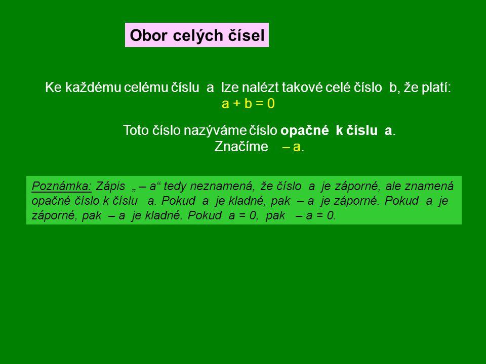 Neplatí: Uzavřenost sčítání, násobení, odčítání i dělení (kromě 0) Komutativnost sčítání i násobení Asociativnost sčítání i násobení Neutrální prvek vzhledem k násobení je číslo 1, vzhledem ke sčítání číslo 0 Jsou-li a, b libovolná racionální čísla, pak a + b, a · b i a – b je rovněž racionální číslo.
