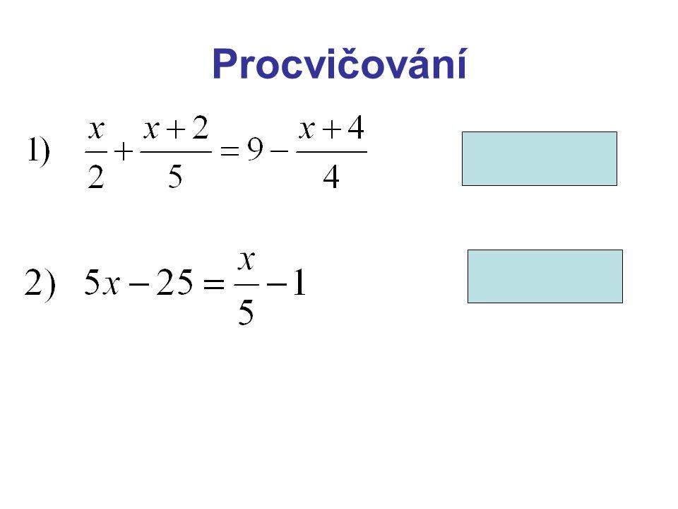 Lineární rovnice s neznámou ve jmenovateli jmenovatel lomeného výrazu se nesmí rovnat nule před samotným řešením je nutné stanovit podmínky, za kterých má daná rovnice smysl