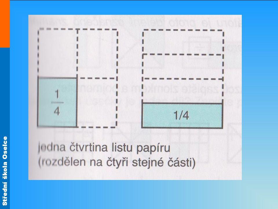 Části celku můžeme zapsat číslem, kterému říkáme zlomek Příklad: 3 --- 4 Příklad: 3 --- 4 Zápis čteme: tři čtvrtiny nebo tři lomeno čtyřmi.