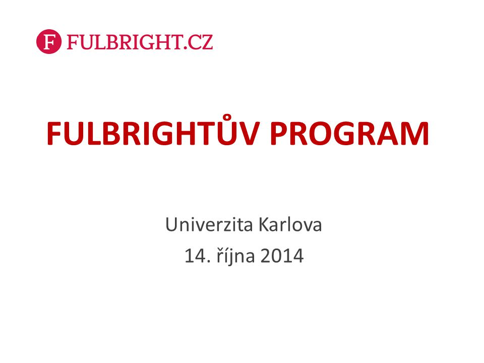 Co je Fulbrightův program.
