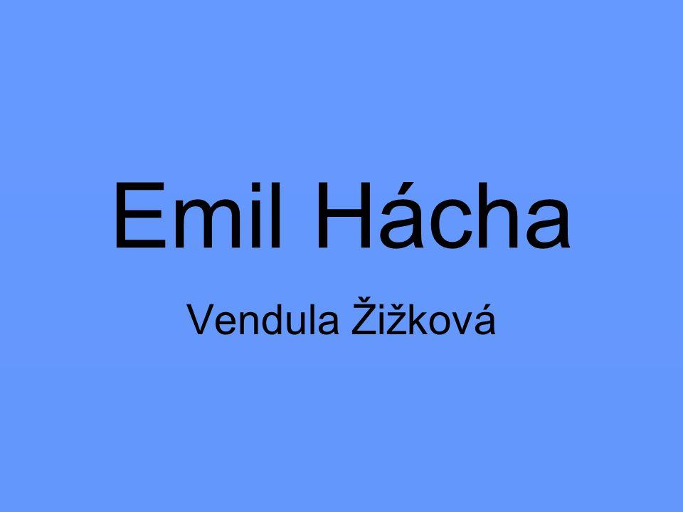 * 12.července 1872 v Trhových Svinech † 27.června 1945 v Praze byl prezidentem ČSR (1938-1939) a státním prezidentem Protektorátu Čechy a Morava (1939–1945) byl odpůrcem fašismu Méně známá je jeho činnost teoretická, literární a překladatelská