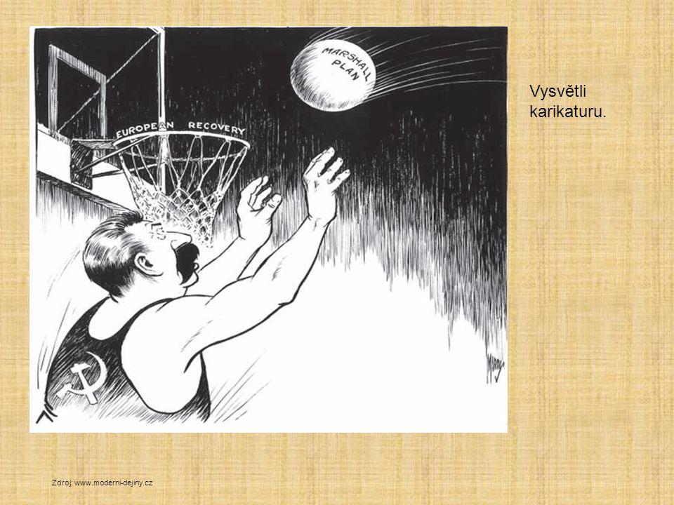 Vysvětli karikaturu. Zdroj: www.moderni-dejiny.cz