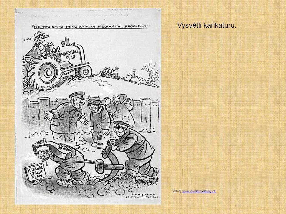 Vysvětli karikaturu. Zdroj: www.moderni-dejiny.czwww.moderni-dejiny.cz