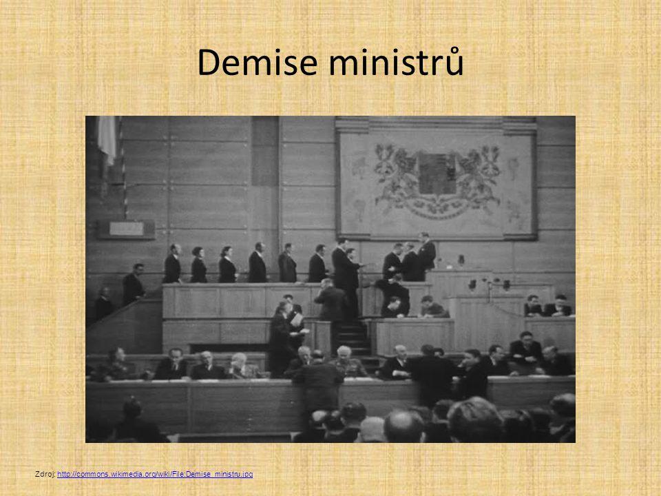 Demise ministrů Zdroj: http://commons.wikimedia.org/wiki/File:Demise_ministru.jpghttp://commons.wikimedia.org/wiki/File:Demise_ministru.jpg