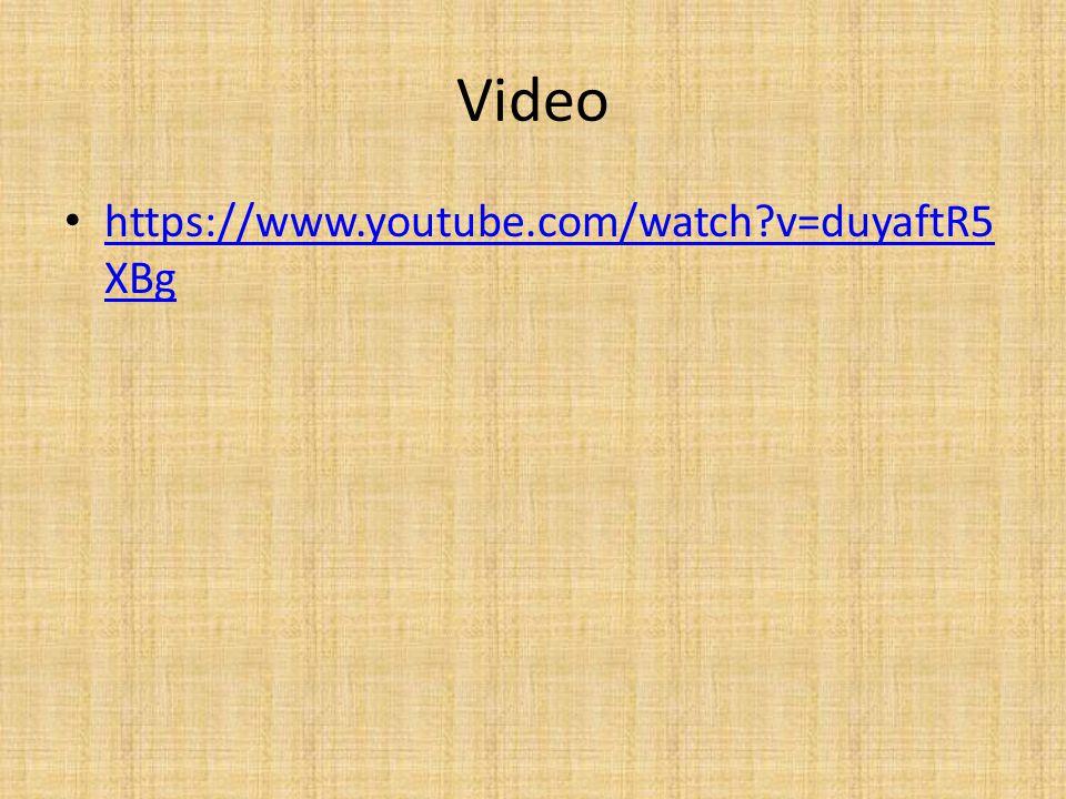 Video https://www.youtube.com/watch?v=duyaftR5 XBg https://www.youtube.com/watch?v=duyaftR5 XBg