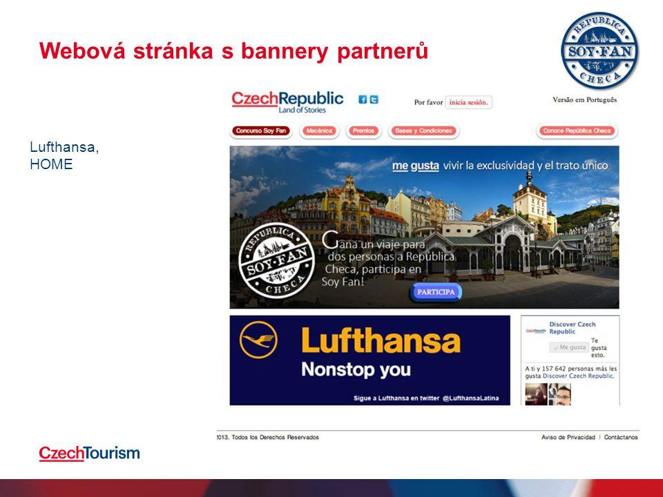 Webová stránka s bannery partnerů 2.4.201515 Lufthansa, HOME