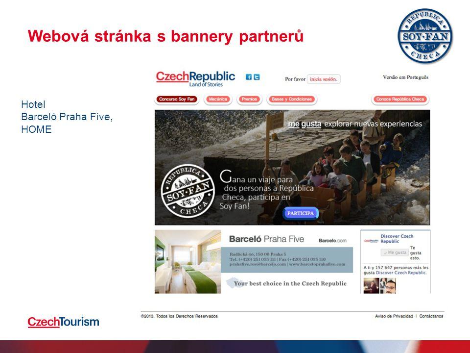 Webová stránka s bannery partnerů 2.4.20159 Hotel Barceló Praha Five, HOME