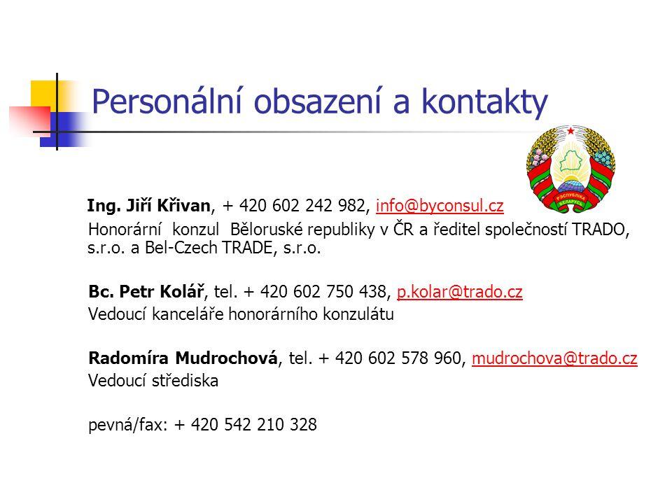 Personální obsazení a kontakty Ing. Jiří Křivan, + 420 602 242 982, info@byconsul.czinfo@byconsul.cz Honorární konzul Běloruské republiky v ČR a ředit