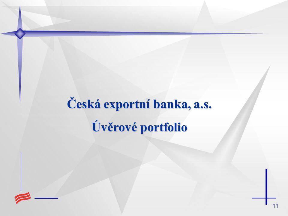 11 Česká exportní banka, a.s. Úvěrové portfolio
