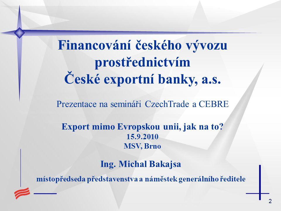 33 komerční banka MSP subdodavatel vývozce ČEB provozní úvěr subkontrakt Přímé záruky za subdodavatele za úvěr poskytnutý komerční bankou žádost o vystavení bankovní záruky bankovní záruka za úvěr Program podpory MSP - subdodavatel PROEXPORTNÍ ZÁRUKA