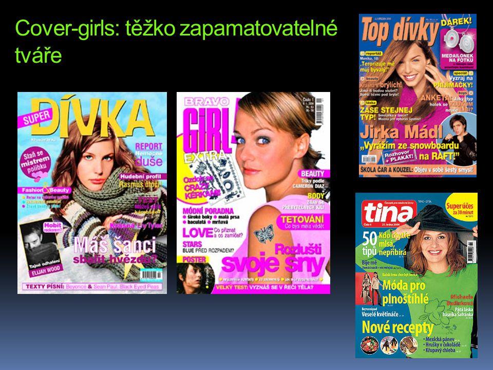 Cover-girls: těžko zapamatovatelné tváře