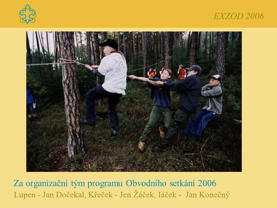 Za organizační tým programu Obvodního setkání 2006 Lupen - Jan Dočekal, Křeček - Jen Žáček, Iáček - Jan Konečný EXZOD 2006