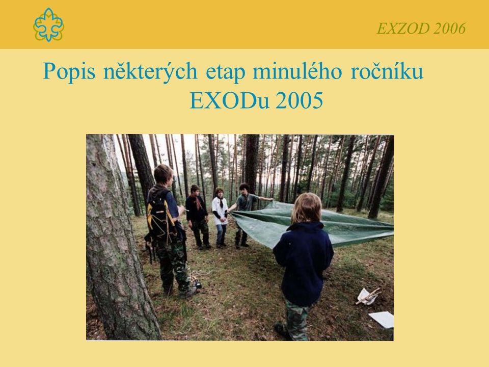 Popis některých etap minulého ročníku EXODu 2005 EXZOD 2006