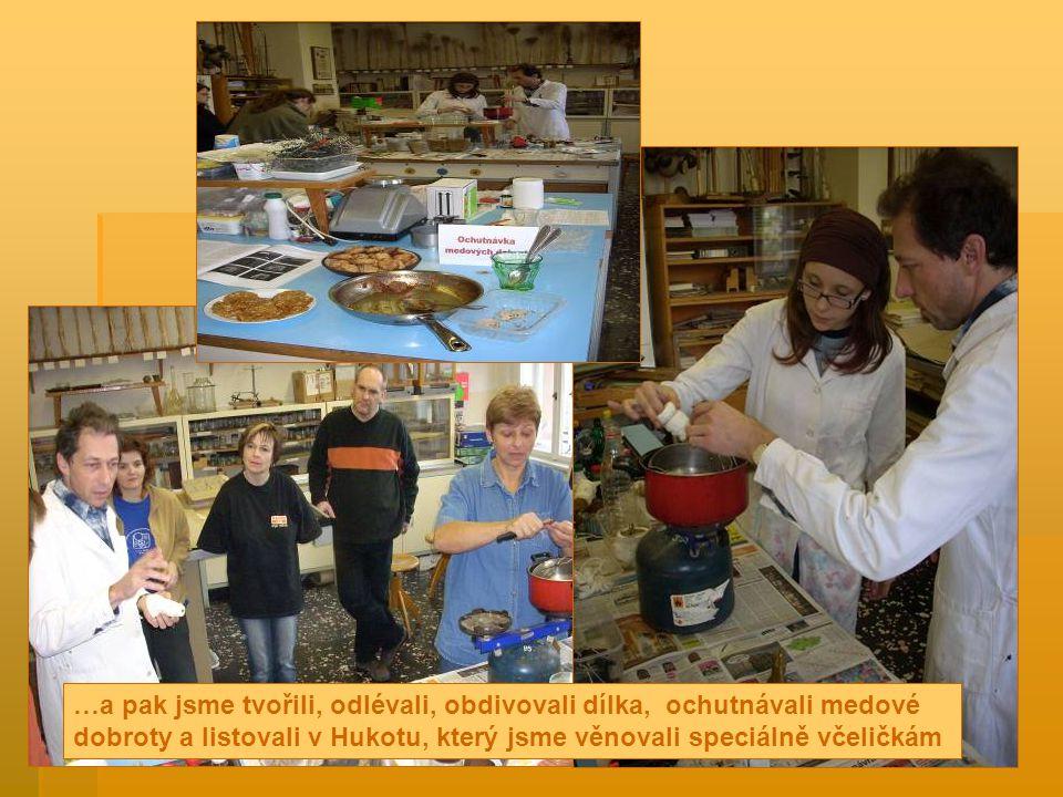 …a pak jsme tvořili, odlévali, obdivovali dílka, ochutnávali medové dobroty a listovali v Hukotu, který jsme věnovali speciálně včeličkám