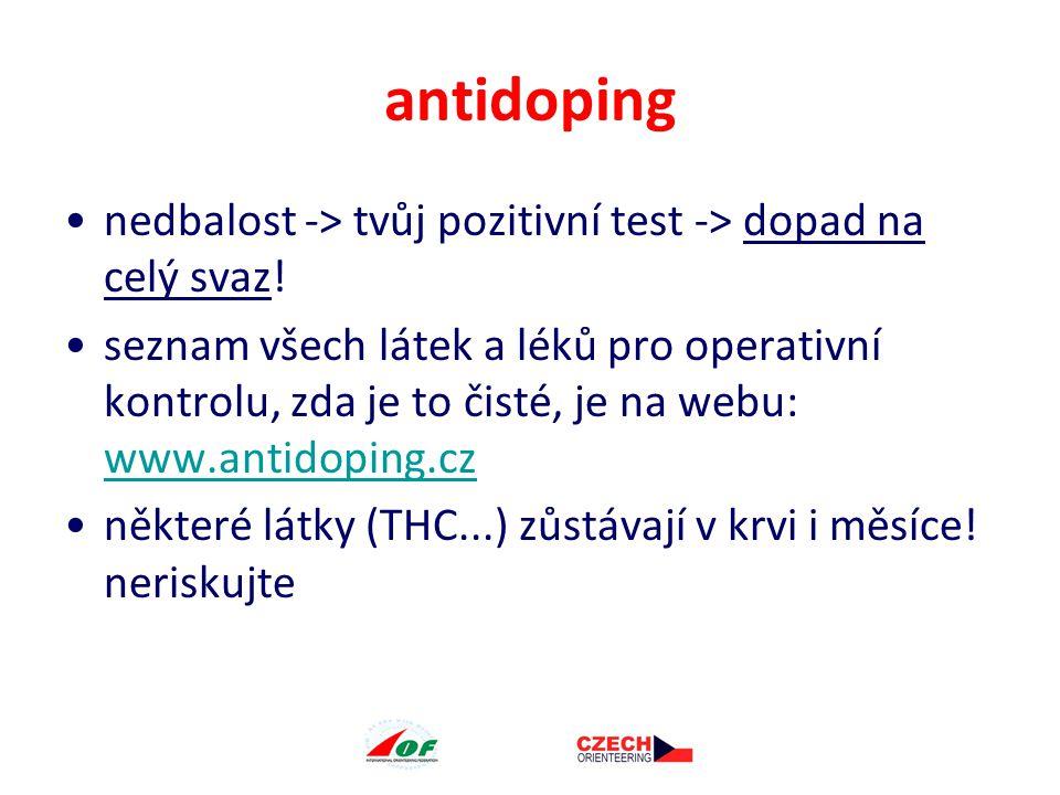 antidoping nedbalost -> tvůj pozitivní test -> dopad na celý svaz.