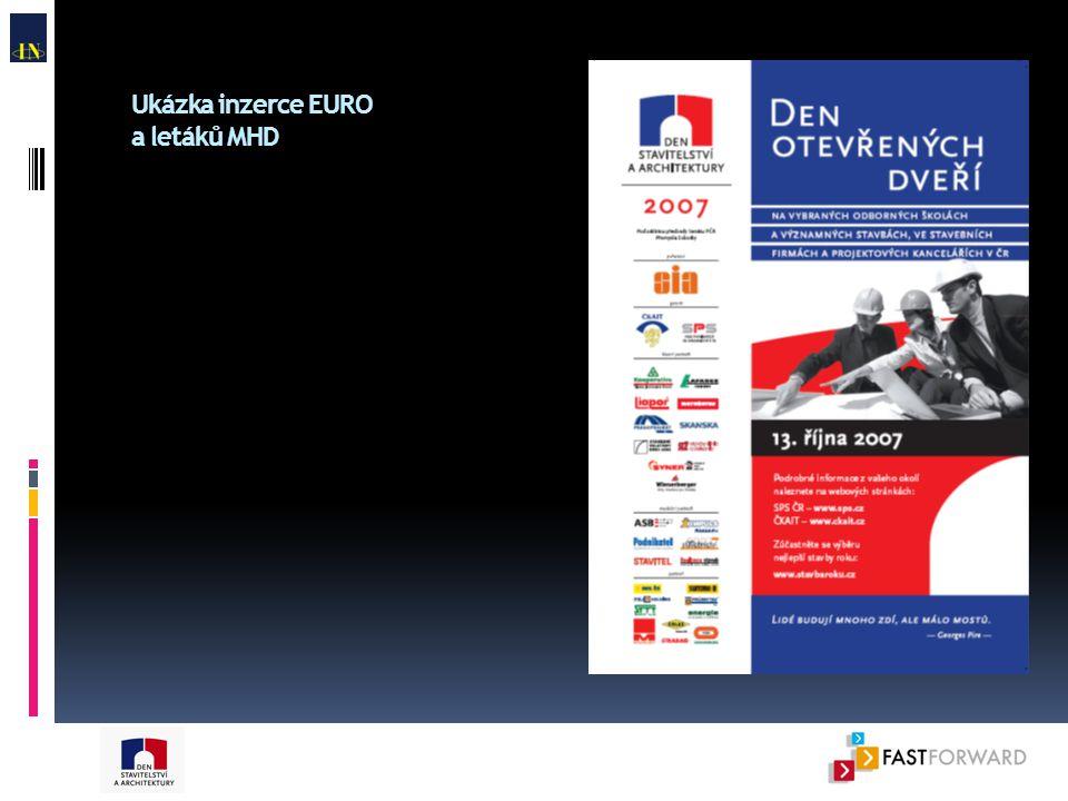 Ukázka inzerce EURO a letáků MHD