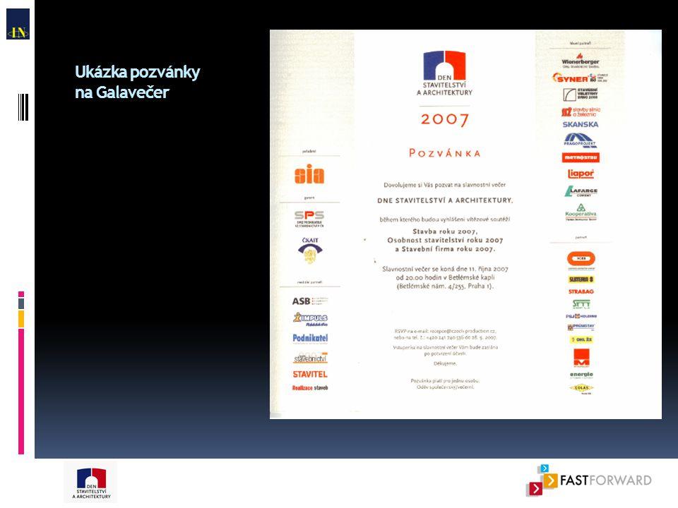 Ukázka pozvánky na Galavečer