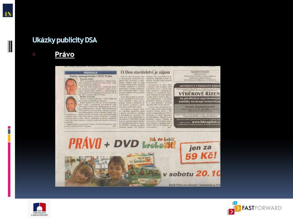 Ukázky publicity DSA  Právo