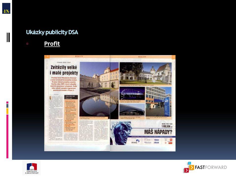 Ukázky publicity DSA  Profit
