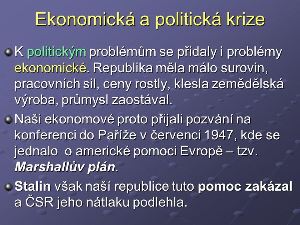 Ekonomická a politická krize K politickým problémům se přidaly i problémy ekonomické.