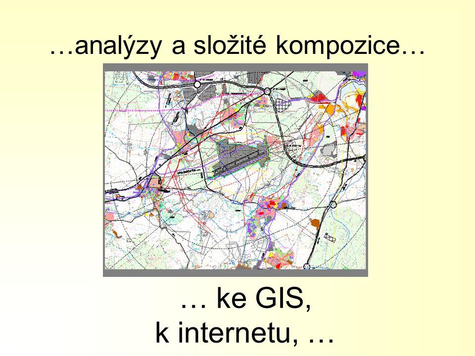 …analýzy a složité kompozice… … ke GIS, k internetu, …