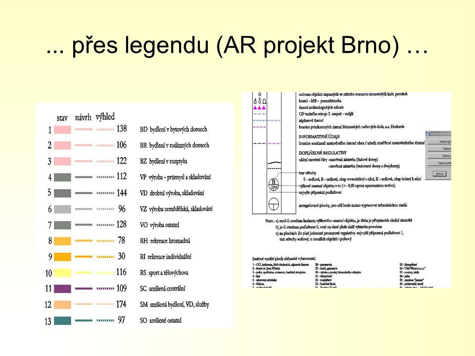 ... přes legendu (AR projekt Brno) …