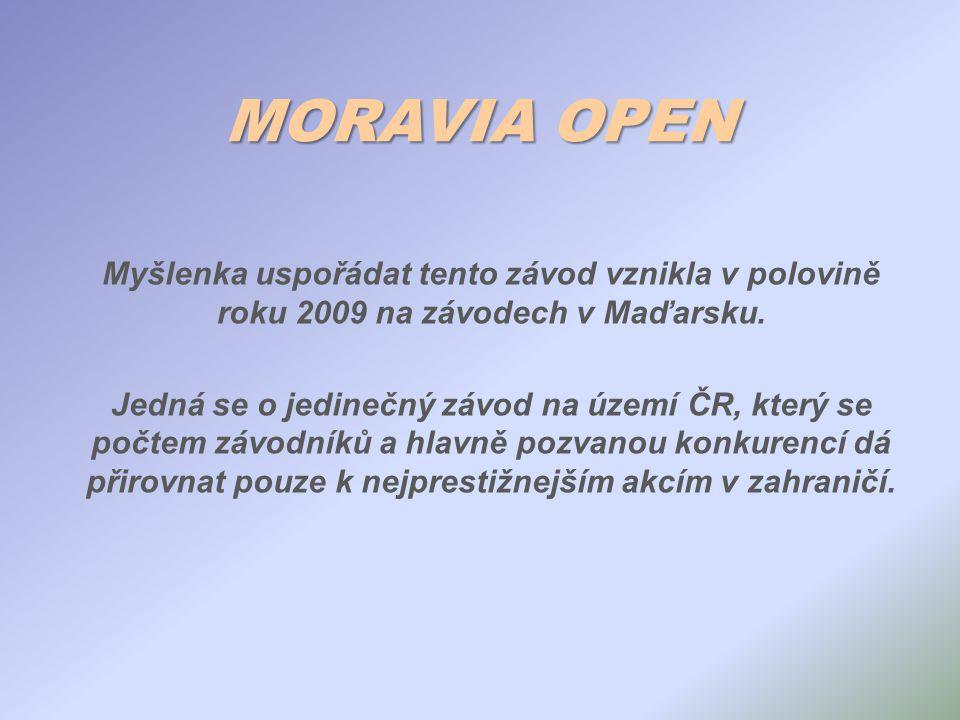 MORAVIA OPEN Myšlenka uspořádat tento závod vznikla v polovině roku 2009 na závodech v Maďarsku. Jedná se o jedinečný závod na území ČR, který se počt