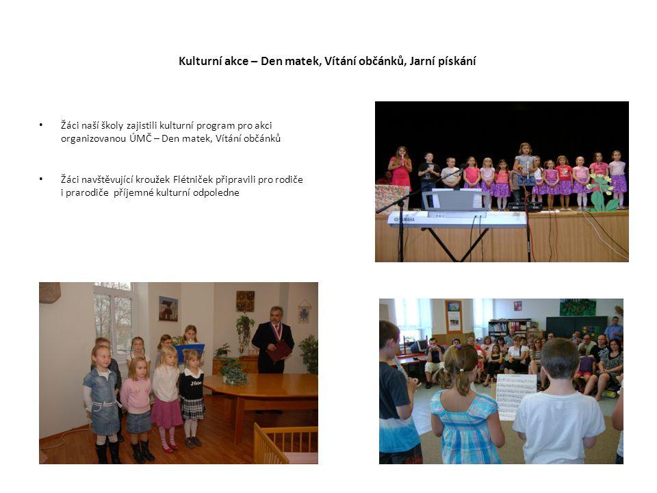 Kulturní akce – májové hody Pod vedením paní Medové a manželů Svěrákových začalo v únoru 2011 ve škole nacvičování lidových písniček a lidových tanečků.
