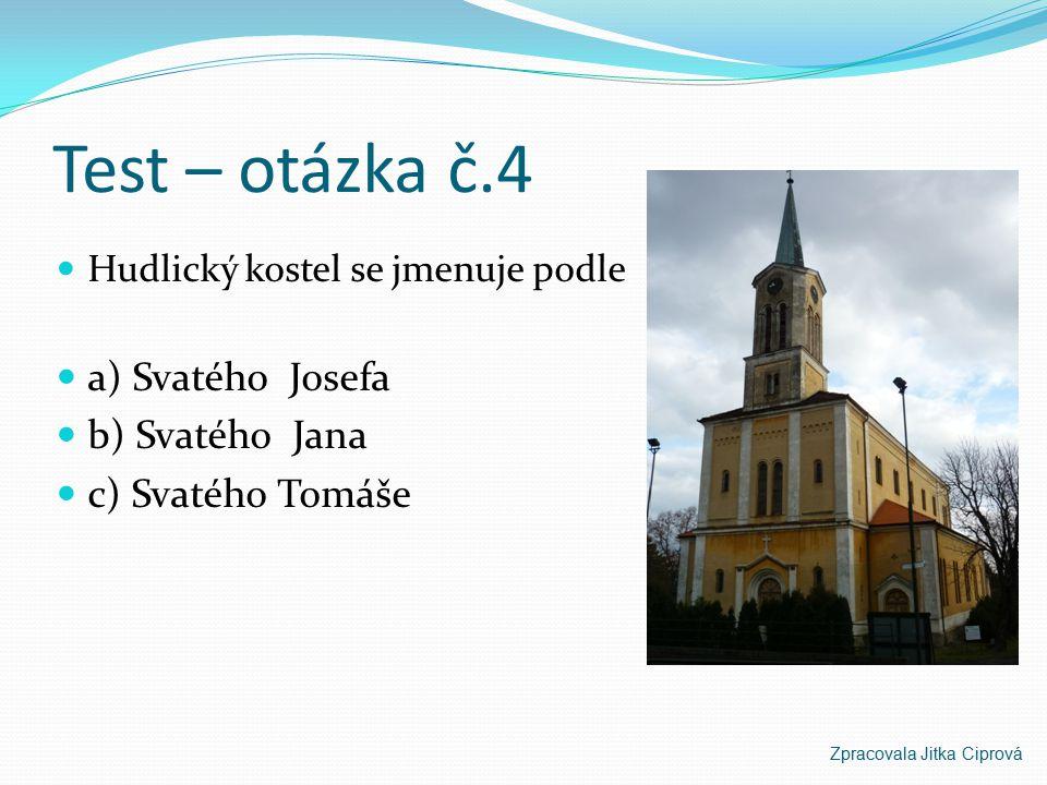 Test – otázka č.3 Kolik dílů má Jungmannův Česko – německý slovník a) 5 dílů a) 3 díly c) 4 díly Zpracovala Jitka Ciprová